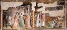 Taddeo Gaddi: Vie de la Vierge, detail. 1328-1330. Fresque. Florence, Santa Croce, Chapelle Baroncelli