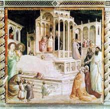 Taddeo Gaddi: Presentation de Marie au Temple. 1327-1330. Fresque. Florence, Santa Croce, Chapelle Baroncelli