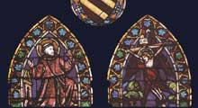 Taddeo Gaddi: Saint François reçoit les stigmates. Vitrail. Florence, Santa Croce, Chapelle Baroncelli