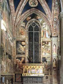 Taddeo Gaddi: Vie de la Vierge. 1328-1330. Fresque. Florence, Santa Croce, Chapelle Baroncelli