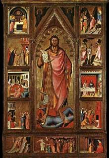 Giovanni del Biondo: Retable de saint Jean Baptiste. 1360-1370. Tempera sur panneau de bois. Florence, Contini Bonacossi Collection