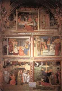Giovanni da Milano: Scènes de la vie de Marie Madeleine. 1365. Fresque. Florence, Santa Croce, chapelle Rinuccini