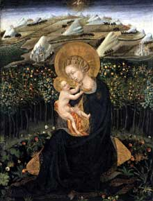 Giovanni di Paolo: vierge d'humilité. Vers 1442. Tempera sur bois, 56 x 43 cm. Boston, Museum of Fine Arts
