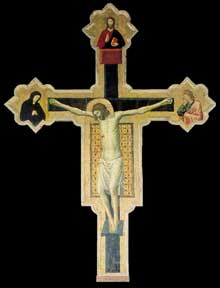 Giovanni da Rimini: Crucifix de l'église SanFrancesco de Mercatello. Vers 130