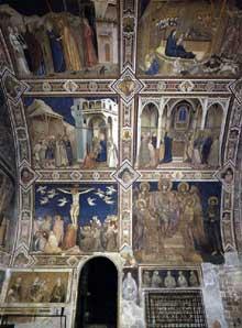 Giotto : Assise, église inférieure Saint François: voute du transept nord, partie ouest