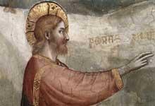 Giotto : Scènes de la vie de Marie Madeleine: la résurrection de Lazare, détail. 1320s. Fresque. Assise, église inférieure Saint François, chapelle sainte Madeleine