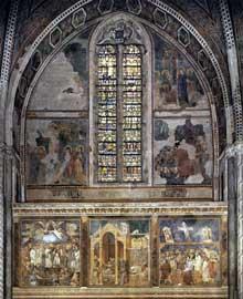 Giotto : Fresques de la seconde baie de la nef. 1290s. Fresque. Assise, église supérieure Saint François
