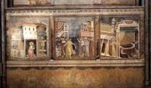 Giotto : Légende de Saint François: Scènes 4 à 6. 1297-1299. Fresque. Assise, église supérieure Saint François