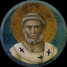 Giotto : Saint Paul. Vers 1290s. Fresque. Assise, église supérieure Saint François