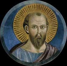 Giotto : Saint Pierre. Vers 1290s. Fresque. Assise, église supérieure Saint François