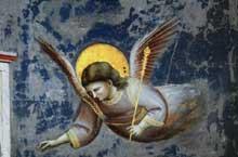 Giotto : Scènes de la vie du Christ: la Présentation au Temple, détail. 1304-1306. Fresque. Padoue: la chapelle Scrovegni ou chapelle de l'Arena