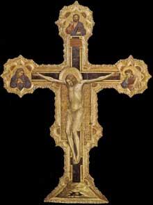Giotto : Crucifix. 1317. Tempera sur bois, 223 x 164 cm. Padoue, Museo Civico
