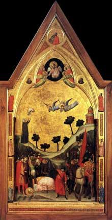 Giotto : Le triptyque Stefaneschi: le martyr de saint Paul. Vers 1330. Tempera sur panneau. Vatican, Pinacothèque