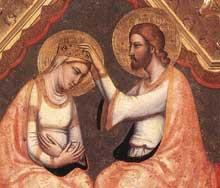 Giotto : Le polyptyque Baroncelli, détail. Vers 1334. Tempera sur bois. Florence, Santa Croce, chapelle Baroncelli