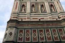 Giotto : Florence: le Campanile du Dôme, partie inférieure