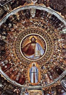 Giusto de'Menabuoi: Le Paradis. 1375-1376 Fresque. Padoue, baptistère