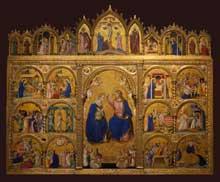 Guariento d'Arpo: le couronnement de la vierge. 1344. Los Angeles, Norton Simon Museum