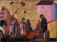 Guido di Sienna: Adoration des Mages. 1270-1280. Tempera sur panneau de bois. Altenburg, Lindenau Museu