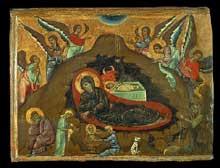 Guido di Sienna: La Nativité. 1270-1280. Tempera sur panneau de bois. Pris, Musée du Louvre