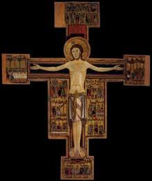 Crucifix (Croix N°15). 1190s. Panneau de bois, 285 x 238 cm. Pise, Pinacothèque