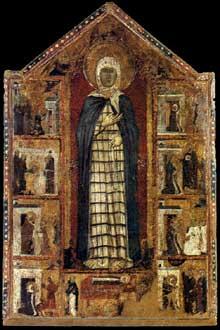 Histoire de sainte Marguerite de Cortone. Vers 1298. Panneau de bois, 178 x 128 cm. Cortone; Museo Diocesano