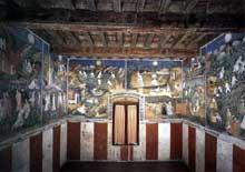 Vue générale de la fresque des 12 lunes. 1391-1407. Fresque. Trente, Castello del Buonconsiglio