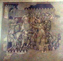 Jacopo di Cione: Strage degli Innocenti del'église Santa Maria Maggiore (Florence), realizzata in collaborazione con Mariotto di Nardo