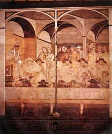 Ambrogio Lorenzetti: Le serment de Saint Louis de Toulouse. 1324-1327. Fresque. Sienne, San Francesco