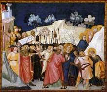 Pietro Lorenzetti: L'arrestation du Christ. Vers 1320. Fresque. Assise, église inférieure saint François, transept sud