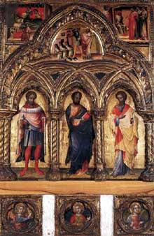 Lorenzo Veneziano: polyptyque. 1360. Bois. Venise, Musée Correr