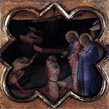 Luca di Tomme: Scènes de la vie de saint Thomas. 1362. Tempera sur panneau de bois, 32 x 32 cm. Edimbourg, National Gallery of Scotland