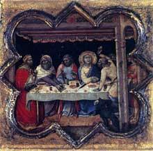 Luca di Tomme: Scènes de la vie de saint Thomas. 1362. Tempera sur panneau de bois, 33 x 34 cm. Edimbourg, National Gallery of Scotland