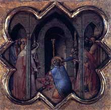 Luca di Tomme: Scènes de la vie de saint Thomas. 1362. Tempera sur panneau de bois, 33 x 35 cm. Edimbourg, National Gallery of Scotland