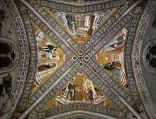 Maître de l'histoire d'Isaac: Les docteurs de l'Eglise. Entre 1290 et 1295. Fresque. Eglise supérieure Saint François, Assise
