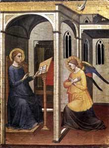 Mariotto di Nardo: Annonciation. 1395. Tempera sur bois. Vatican, Pinacothèque