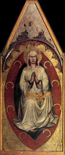 Martino di Bartolommeo: Assomption de la Vierge. Vers 1408.Panneau de bois, 135 x 52 cm. Cortone, Museo Diocesano