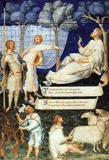 Simone Martini: page titre du «Virgile» de Pétrarque. Vers 1336. Manuscrit enluminé, 29,5 x 20 cm. Milan, Biblioteca <a class=