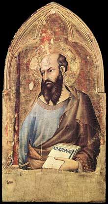 Simone Martini: polyptyque d'Orvieto, détail. Vers 1321. Tempera sur bois, 94 x 48,5 cm. Orvieto, Museo dell'Opera del Duomo