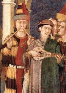 Simone Martini: Saint Martin adoubé chevalier, détail. 1312-1317. Fresque, 100 x 82 cm. Assise, chapelle Saint Martin, église inférieure Saint François