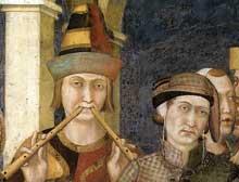 Simone Martini: Saint Martin adoubé chevalier (détail). 1312-1317. Fresque, 100 x 82 cm. Assise, chapelle Saint Martin, église inférieure Saint François