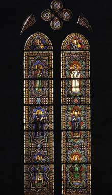 Simone Martini: Vitrail. Vers 1312. Assise, chapelle Saint Martin, église inférieure Saint François
