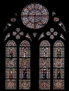 Simone Martini: vitrail. Vers 1312. 570 x 400 cm. Assise, chapelle Saint Louis, église inférieure Saint François