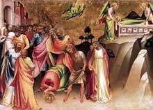 Lorenzo Monaco�: la d�capitatiion de sainte Catherine d�Alexandrie. 1394-1395. Panneau de peuplier, 42 x 57 cm. Berlin, Staatliche Museen