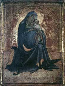 Lorenzo Monaco�: madone d�humilit�. Diptyque. Vers 1420.Panneau, 22,8 x 17,8 cm. Copenhague, Mus�e Thorvaldsen