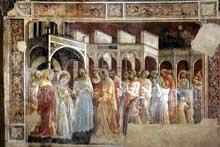 Lorenzo Monaco�: le mariage de la Vierge. 1420-1424. Fresque, 210 x 230 cm. Florence, Santa Trinit�