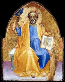 Lorenzo Monaco�: saint Pierre. Vers 1405. Huile sur panneau de peuplier, 53 x 41 cm. Collection priv�e