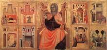 Maître de Sainte Cécile: retable de saint Cécile. Vers 1304. Tempera sur bois, 85 x 181 cm. Florence, galerie des Offices