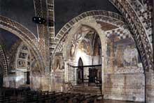 Maître de Saint François: Assise, église saint François. Vue sur la nef de l'église inférieure