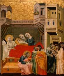 Maître de la vie se Saint Jean Baptiste: Scènes de la vie de Saint Jean Baptiste. Vers 1330-1340. Tempera sur panneau, 49 x 41 cm. Washington, National Gallery of Art