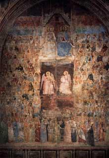 Nardo di Cione: Le Paradis. Vers 1355. Fresque. Florence, Santa Maria Novella, chapelle des Strozzi